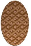 rug #174204   oval check rug