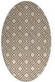 rug #174209 | oval beige check rug