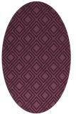 rug #174216 | oval retro rug