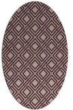 rug #174218 | oval check rug