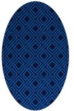rug #174225 | oval blue retro rug