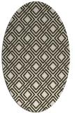 rug #174234 | oval check rug