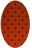 rug #174245 | oval red-orange check rug