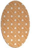 rug #174249 | oval orange check rug
