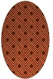 rug #174257 | oval red-orange check rug