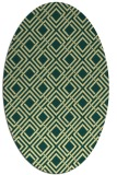 rug #174261 | oval yellow check rug