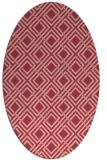 rug #174274 | oval check rug