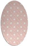 rug #174277 | oval white check rug