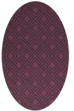 rug #174281 | oval purple check rug