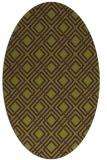 rug #174285 | oval purple check rug