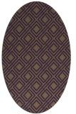 rug #174289 | oval purple check rug