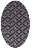 rug #174293 | oval purple check rug