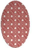 rug #174297 | oval red retro rug
