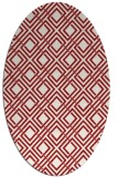 rug #174305 | oval red retro rug