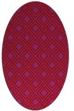 rug #174309 | oval red check rug