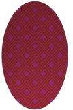 rug #174311 | oval check rug
