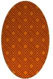 rug #174313 | oval red-orange check rug
