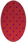 rug #174324   oval check rug