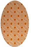 rug #174325 | oval red-orange geometry rug