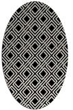 rug #174329 | oval white check rug