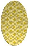 rug #174333 | oval white check rug