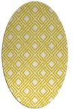 rug #174334 | oval check rug