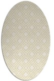 rug #174349 | oval yellow check rug
