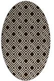 rug #174353 | oval check rug