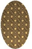 rug #174356   oval check rug