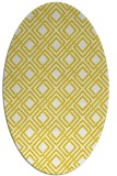 rug #174357 | oval yellow check rug