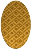 rug #174361 | oval yellow check rug