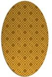 rug #174361 | oval light-orange retro rug