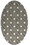 rug #174365   oval black retro rug