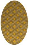 rug #174372 | oval check rug