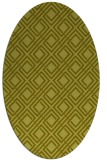 rug #174377 | oval light-green check rug