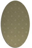 rug #174381 | oval light-green check rug