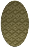 rug #174389 | oval light-green check rug