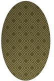 rug #174390 | oval check rug