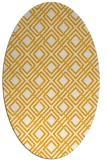 rug #174393 | oval light-orange check rug
