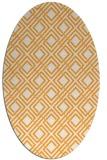 rug #174405 | oval white check rug