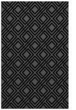 rug #174417 |  black check rug