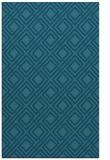 rug #174457 |  blue-green check rug