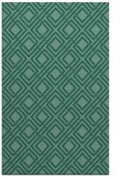 rug #174465 |  blue-green check rug