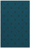 rug #174489 |  blue-green retro rug