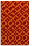 rug #174597 |  red-orange check rug