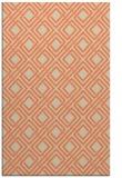 rug #174605 |  orange check rug