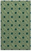 rug #174613 |  blue-green check rug