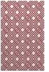 rug #174621 |  pink check rug