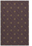 rug #174641 |  purple check rug