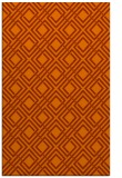 rug #174665    red-orange check rug